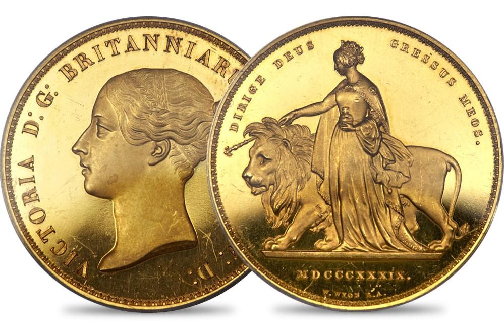 ウナ&ライオン 5ポンド金貨