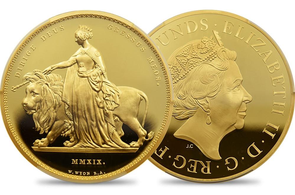 ウナ&ライオン 1000ポンド1キロ金貨